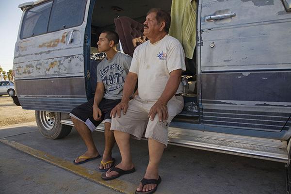 Grape Workers Living in a Van