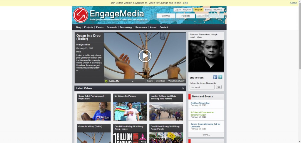 Engagemedia.org website