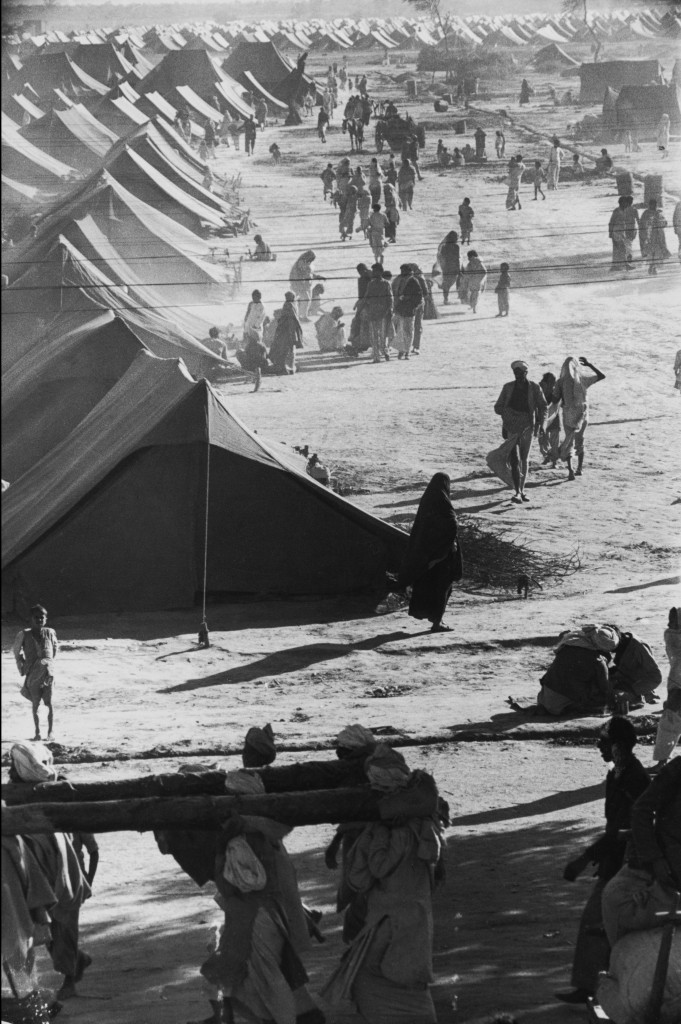 A Refugee Camp, Kurukshetra, India (1947) by Henri Cartier-Bresson, from the Simon & Schuster edition of The Decisive Moment (1952), p. 93; © Henri Cartier- Bresson/Magnum Photos