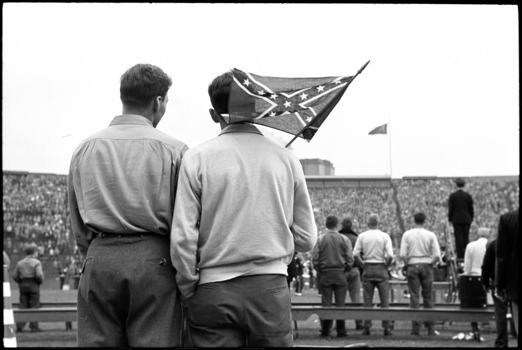 University of Miami vs. University of Pittsburgh Football Game, Pittsburgh, PA (1950) by Elliott Erwitt; © Elliott Erwitt/Magnum Photos; courtesy Carnegie Library of Pittsburgh