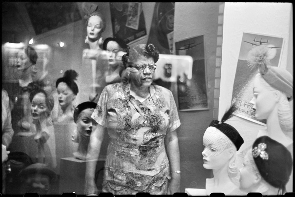 Downtown Hat Shop Window, Pittsburgh, PA (1950) by Elliott Erwitt; © Elliott Erwitt/Magnum Photos; courtesy Carnegie Library of Pittsburgh